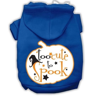 Too Cute to Spook Halloween Dog Hoodies Free USA Shipping