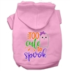 Too Cute to Spook-Girly Ghost Screen Print Dog Hoodie -XSm-XXX-Large Free Shipping