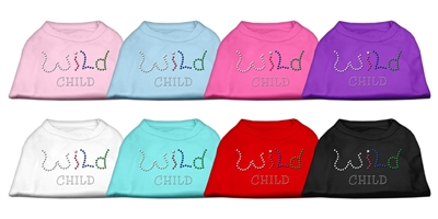 Wild Child Rhinestone Dog T Shirts
