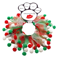 Fuzzy Wuzzy Christmas Dog Collar Smoocher Free Shipping