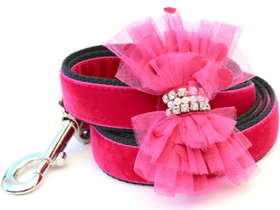 Bardot Velvet Leash by Diva Dog
