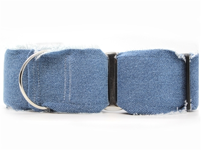 Blue Jean Baby Extra Wide Martingale Dog Collar