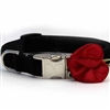 Carnation Red Velvet Collar