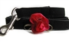 Red, Orchid or Blue Carnation Dog Leash by Diva Dog