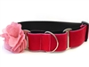 Christie Velvet Extra Wide Martingale Dog Collar