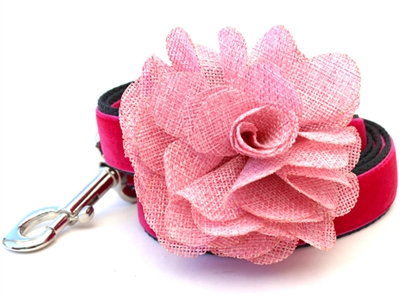 Christie Pink Velvet Dog Leash by Diva Dog