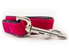 Classic Hot Pink Velvet Leash