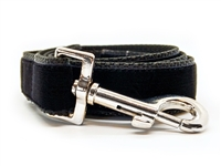 Classic Jet Black Velvet Leash