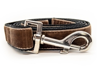 Classic Sable Brown Velvet Leash