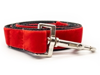 Classic Scarlet Red Velvet Leash