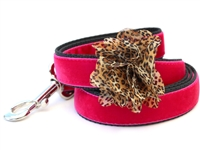 Pamela Pink Velvet Dog Leash by Diva Dog