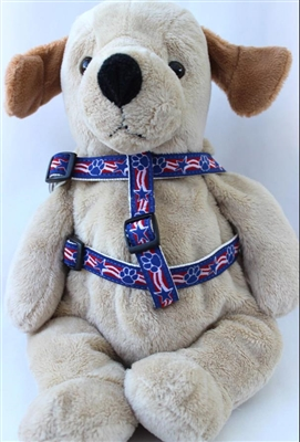 Stars and Paws Nylon Dog Harness by Diva-Dog Teacup to XLg