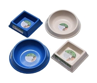 Small Bamboo Pet Food and Water Bowls
