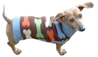 Dallas Dogs Bones 100% Acrylic Dog Sweater