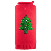 Reversible Sequin Tree Roll Neck Dog Sweater by Worthy Dog