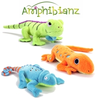 goDog Amphibianz Plush Dog Toys with Chew Guard