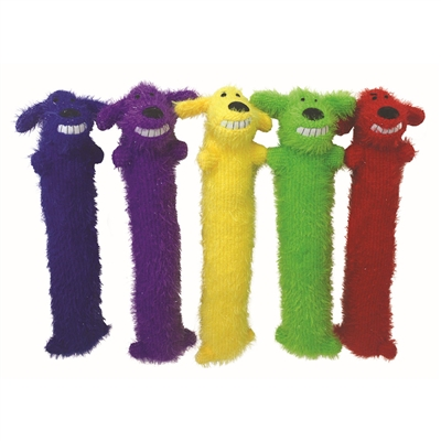 Loofa Shaggy Squeaker Dog Toy, Assorted Colors