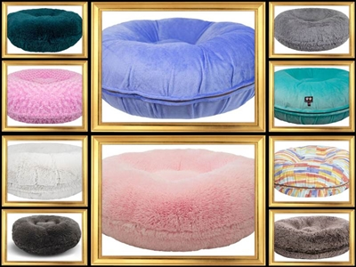 Bessie and Barnie Bagel Dog Beds-Made in USA