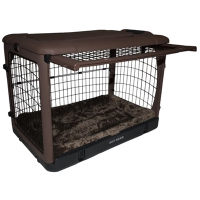 "The Other Doorâ""¢ Steel Dog Crate - Chocolate"